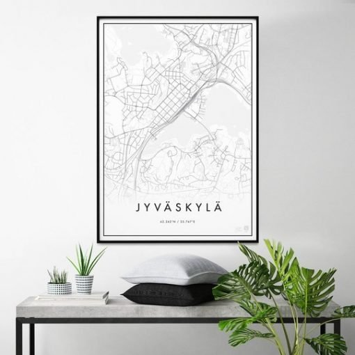 Kaupunkijuliste, Jyväskylä 50x70cm