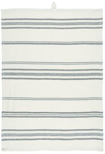 Tea towel, natural/black