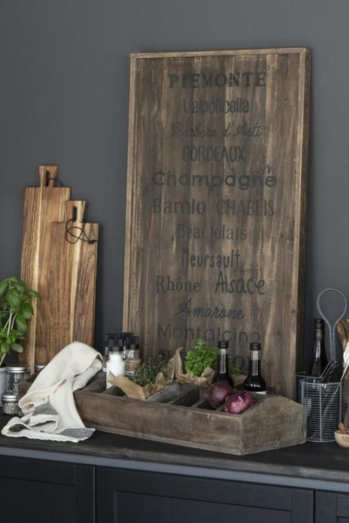 Wooden board, wine districts
