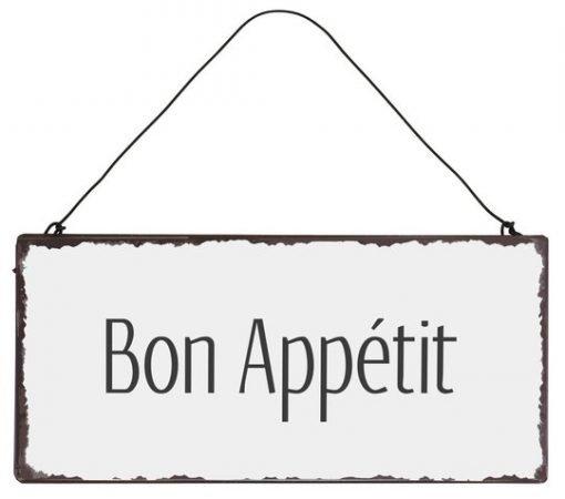 Bon Appétit -metallikyltti