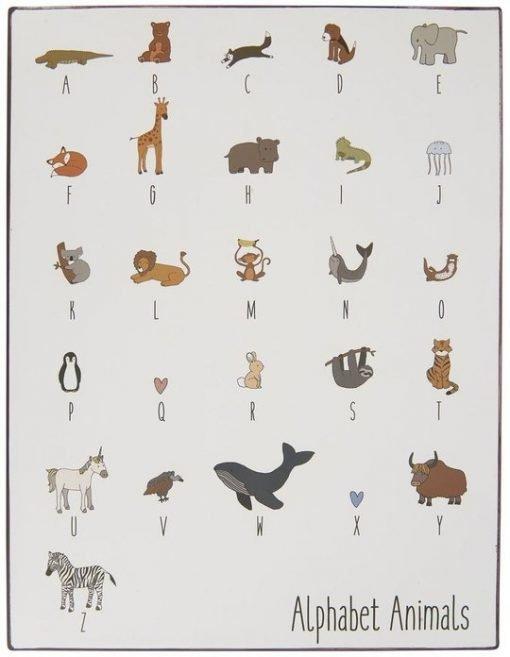 Alphabet Animals -aakkostaulu
