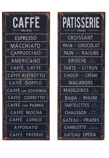 Caffe ja Patisserie kyltit