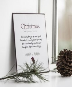 Christmas-metallikyltti