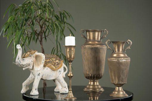 Elephant, white/gold