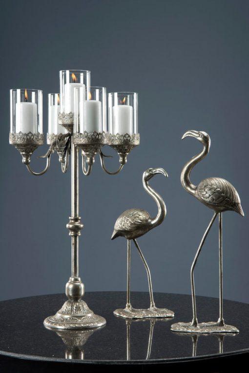Flamingo Antique-Silver, 56 cm