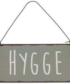 Hygge-metallikyltti