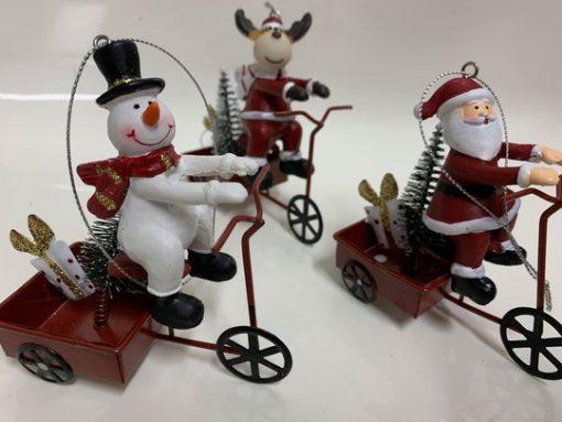 Jouluiset pyörät, joulupukki