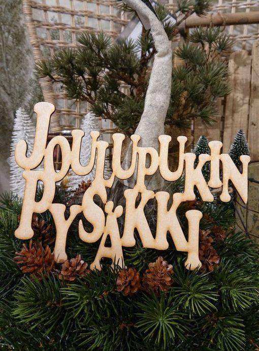 Joulupukin pysäkki -tekstikyltti