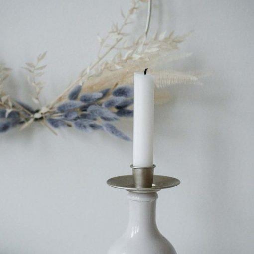 Kynttilänpidike pulloon, hopea