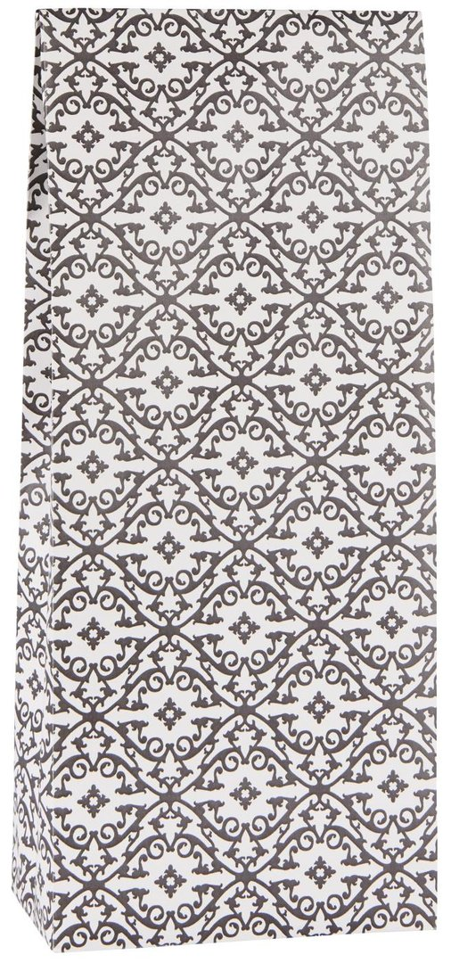 Paperipussi/lahjapussi, musta/valkoinen