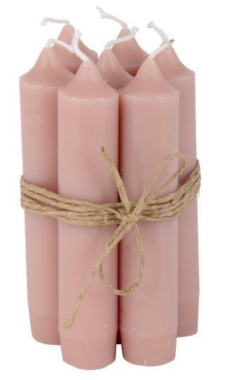 Lyhyt kruunukynttilä, rosa