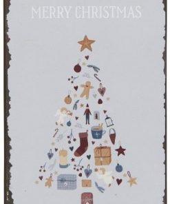 Merry Christmas -metallikyltti