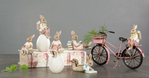 Polkupyörä-koriste, vaaleanpunainen