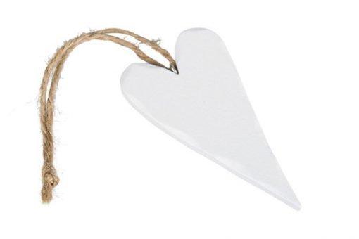 Puusydän 9 cm, valkoinen