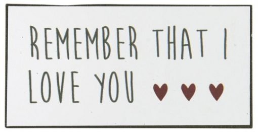 Remember that I love you - magneetti