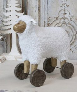 Sheep on wheels, 40 cm