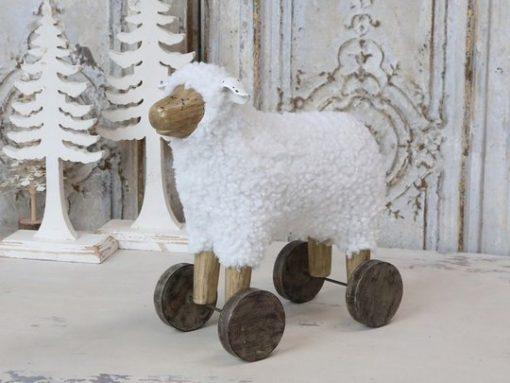 Sheep on wheels, 40 cm