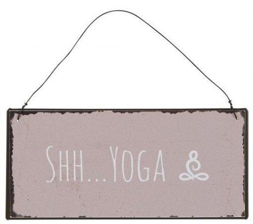Shh...Yoga -metallikyltti
