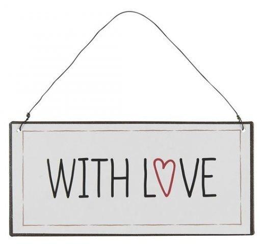 With love -metallikyltti