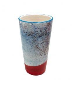 Lattemuki 350 ml Puna-sininen